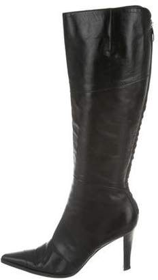 Sergio Rossi Pointed-Toe Knee-High Boots