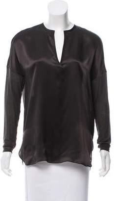 Vince Silk Long Sleeve Top