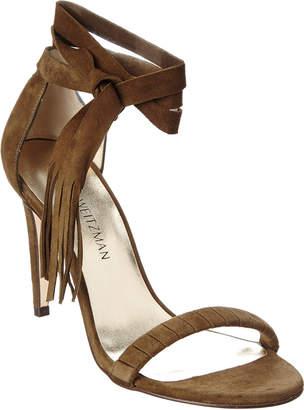 Stuart Weitzman Crafty Suede Sandal