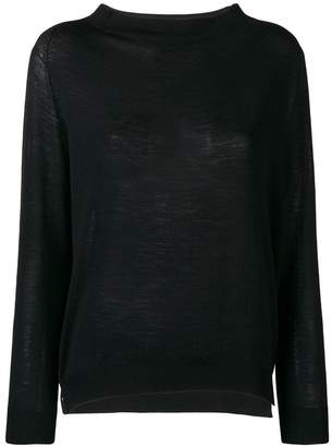 Zanone long-sleeve fitted sweater