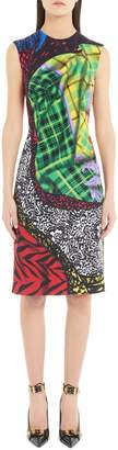 Versace First Line Mixed Tartan Print Dress