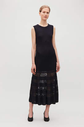 Cos LONG LADDERED KNIT DRESS