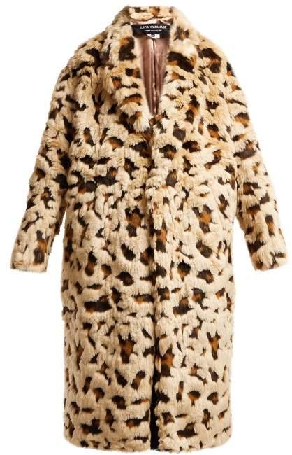 Leopard Print Faux Fur Coat - Womens - Beige Multi