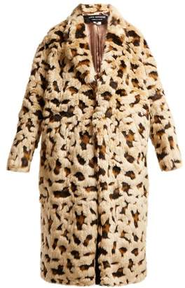 Junya Watanabe Leopard Print Faux Fur Coat - Womens - Beige Multi