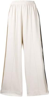 Y-3 striped wide-leg casual trousers