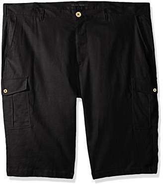 Sean John Men's Solid Linen Cargo Shorts