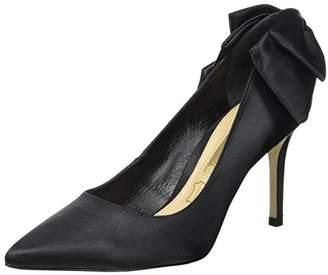 Buffalo London Women's Zs 7794-16 Tecido Cetim Closed-Toe Pumps, (Black 01)