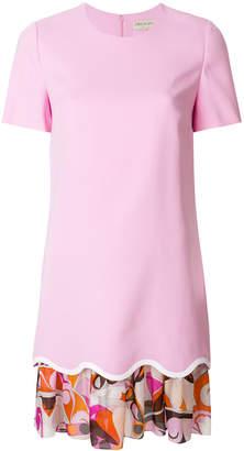 Emilio Pucci layered scalloped-hem dress