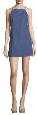 3x1 Twist Denim Apron Dress