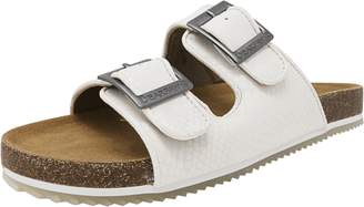 BearPaw Casual Shoes Womens Brooklyn Microsuede Sandal 7 White 1768W