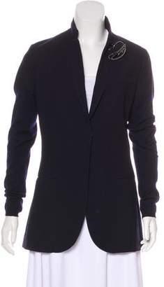 Brunello Cucinelli Cashmere-Paneled Wool Blazer