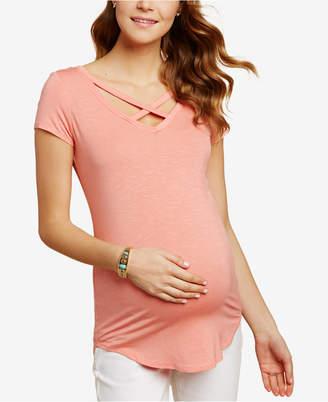 Jessica Simpson Maternity Cross-Back V-Neck Top