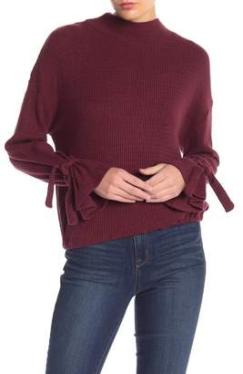 William Rast Elle Mock Neck Top