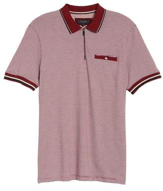 Ted Baker Whiptt Trim Fit Zip Polo