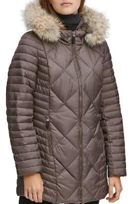 Andrew Marc Kameron Fur Trim Puffer Coat