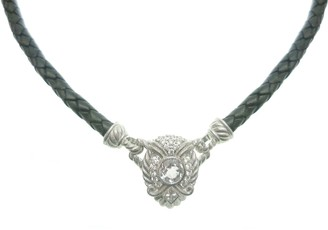 """Judith Ripka Sterling Silver & Leather 17"""" Necklace"""