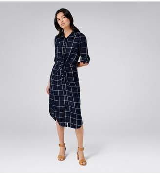 Ever New Maya Windowpane Check Twist Dress
