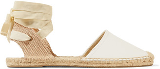 Soludos Lace-up leather espadrilles $79 thestylecure.com