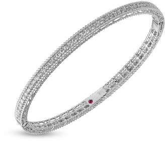 Roberto Coin Symphony 18ct White Gold 0.61 Total Carat Weight Diamond Bangle