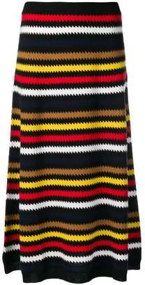 Sonia Rykiel geometric pattern skirt