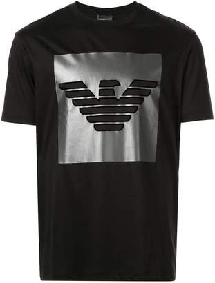 Emporio Armani metallic logo T-shirt