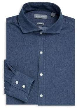 Michael Bastian Textured Denim Dress Shirt