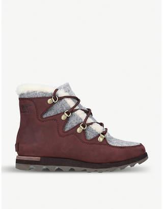 Sorel Alpine faux shearling-trimmed nubuck ankle boots