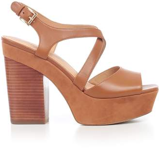 MICHAEL Michael Kors Buckled Wedge Sandals