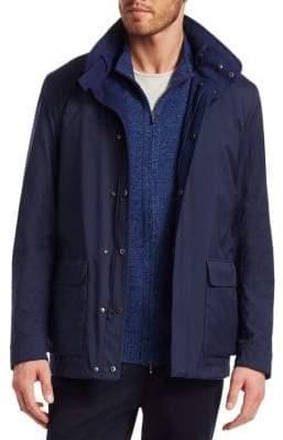 Loro Piana Men's Voyager Utility Jacket - Bright Blue - Size Medium