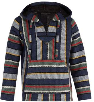 Alanui - Eclipse Striped Cashmere Hooded Sweater - Mens - Blue