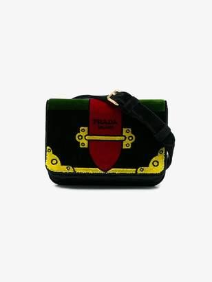 Prada Green trompe-l'œil Small Velvet belt bag