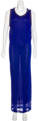 Jean Paul Gaultier Chain-Accented Maxi Dress
