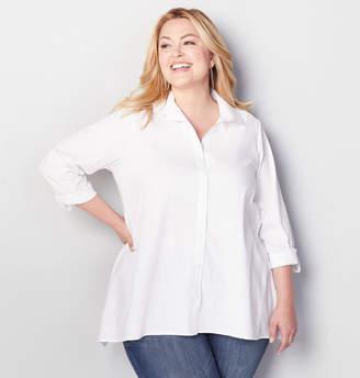 Avenue White Button Front Shirt
