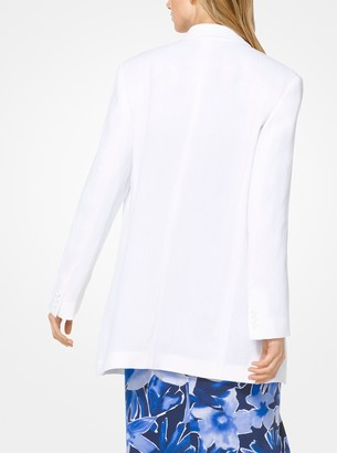 Michael Kors Linen-Crepe Blazer