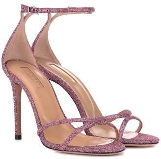 Aquazzura Purist 105 glitter sandals