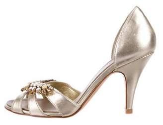 Giuseppe Zanotti Leather Embellished Sandals