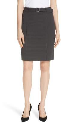 BOSS Vumano Dot Dessin Stretch Suit Skirt