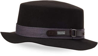 Kangol Coal Buckle Boater Fedora
