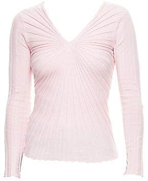 Sandro Women's Justine Slim-Fit V-Neck Knit Sweater