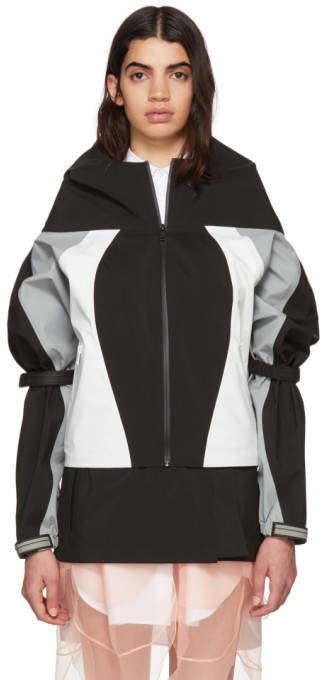 Black Cropped Colorblock Track Jacket