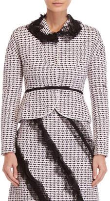 Giambattista Valli Lilac Lace Trim Tweed Jacket