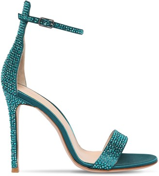 Gianvito Rossi 105mm Portofino Crystals Satin Sandals