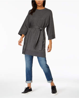 Eileen Fisher Tencel® Belted 3/4-Sleeve Tunic