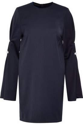 Mother of Pearl Velvet-Trimmed Embellished Cady Mini Dress