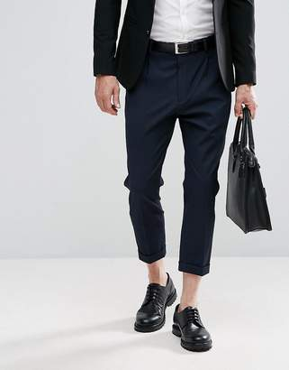 Selected Homme+ Tailored Pants With Cropped Leg