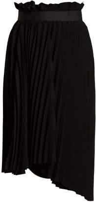 Balenciaga Logo-embroidered pleated skirt