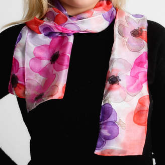 Joanne Eddon (hand painted silk) Anemones Silk Scarf