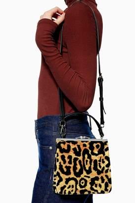 Topshop Womens Kenya Carpet Bag - True Leopard