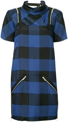 Sacai short checked dress