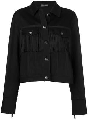 David Koma fringed chest jacket